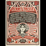 Shepard Fairey Lollapalooza 2006 - Red Hot Chili Peppers and Kanye West Poster