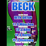 Beck German Concert Poster