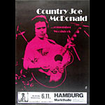 Country Joe McDonald German Concert Poster