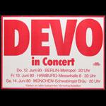 Devo German Concert Poster