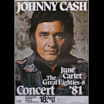 Johnny Cash June Carter German Concert Poster
