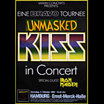 Kiss / Iron Maiden Unmasked German Concert Poster