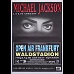 Michael Jackson 1992 Dangerous Tour German Concert Poster