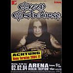 Ozzy Osbourne German Concert Poster