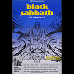 Black Sabbath 1980 German Concert Tour Poster