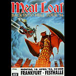 Meat Loaf Back Into Hell German Concert Poster