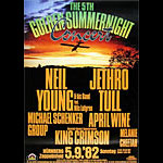 Neil Young  & Jethro Tull German Concert Poster