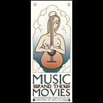 David Lance Goines Music and the Movies Poster