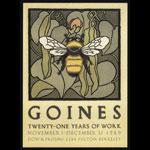 David Lance Goines David Goines 21 Years of Work 11/1-12/31/1989  Postcard