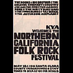 Northern California Folk Rock Festival Handbill