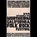 Northern California Folk Rock Festival Handbill