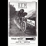 R.E.M Fresno Handbill
