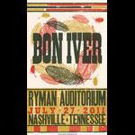 Hatch Show Print Bon Iver Poster