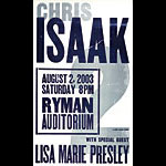 Hatch Show Print Chris Isaak Poster