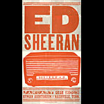 Hatch Show Print Ed Sheeran Poster