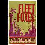 Hatch Show Print Fleet Foxes Poster