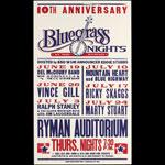 Hatch Show Print Bluegrass Nights - Vince Gill - Ricky Skaggs - at Ryman Auditorium Poster