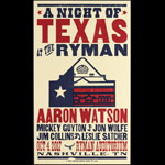 Hatch Show Print A Night of Texas at the Ryman - Aaron Watson Poster