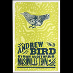 Hatch Show Print Andrew Bird at Ryman Auditorium Poster