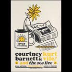 Hatch Show Print Courtney Barnett and Kurt Vile at Ryman Auditorium Poster