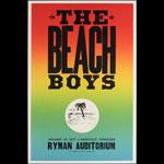 Hatch Show Print The Beach Boys at Ryman Auditorium Poster