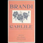 Hatch Show Print Brandi Carlile at Ryman Auditorium Poster