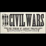 Hatch Show Print The Civil Wars at Ryman Auditorium Poster