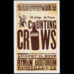 Hatch Show Print Counting Crows - Traveling Circus and Medicine Show Poster