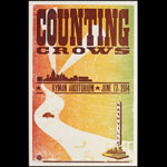 Hatch Show Print Counting Crows at Ryman Auditorium Poster