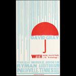 Hatch Show Print David Gray at Ryman Auditorium Poster