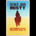 Hatch Show Print Father John Misty at Ryman Auditorium Poster