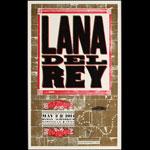 Hatch Show Print Lana Del Rey at Ryman Auditorium Poster