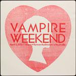 Hatch Show Print Vampire Weekend at Ryman Auditorium Poster