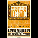 Hatch Show Print Merle Haggard Poster