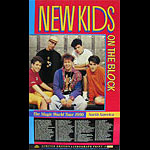 New Kids on the Block 1990 Magic World Tour Poster