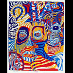 Funky Features 2 Heads Psychedelic Poster