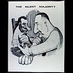 The Silent Majority - Nixon And Agnew Shooting Up Poster
