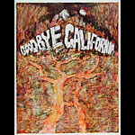 William Whitaker Vintage Original 1960's Goodbye California Poster