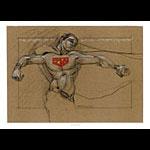Derek Hess Superman Man of Steel Movie Poster