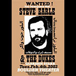 Jeff Holland Steve Earle & The Dukes Poster