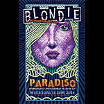 Chris Conroy Blondie 40th Anniversary Tour Poster