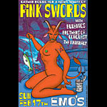 Rob Jones Pink Swords Poster