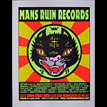 Frank Kozik Mans Ruin Records Promo Poster