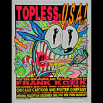 Frank Kozik Topless U.S.A. Frank Kozik Art Show Poster