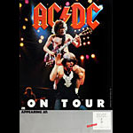 AC/DC 1983 Flick of the Switch Tour Poster