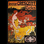 F. W. Ramsdell American Crescent Cycles Vintage Bicycle Advertisement Poster