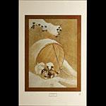 Katsushika Hokusai Puppies in the Snow Art Print