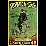 F. Appel Howe Bicycles and Tricycles Vintage Bicycle Advertisement Poster