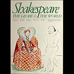 David Hockney Shakespeare: The Globe and the World Art Exhibition Poster