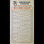 1968 American League Official Baseball Schedule Poster